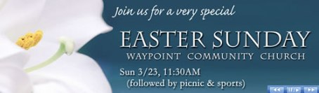 Join us for Easter Sunday Service