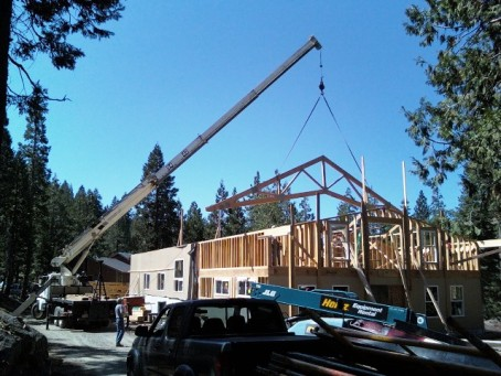 Roof trusses one at a time