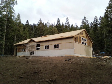 Roof is on -- just in time for the rain!
