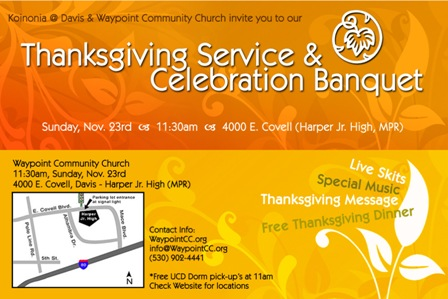 Thanksgiving at Waypoint Community Church