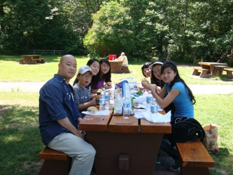 Picnic on the way to Whistler